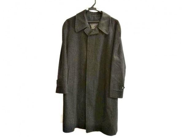 Burberry's(バーバリーズ) コート サイズS メンズ 黒×グレー 冬物