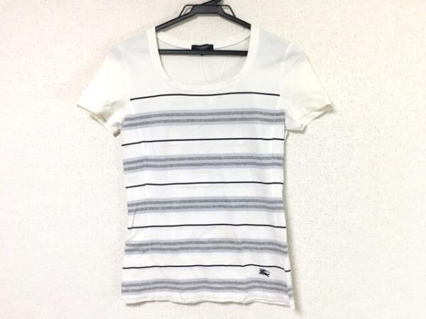 バーバリーロンドン 半袖Tシャツ サイズ1 S レディース 白×グレー×マルチ