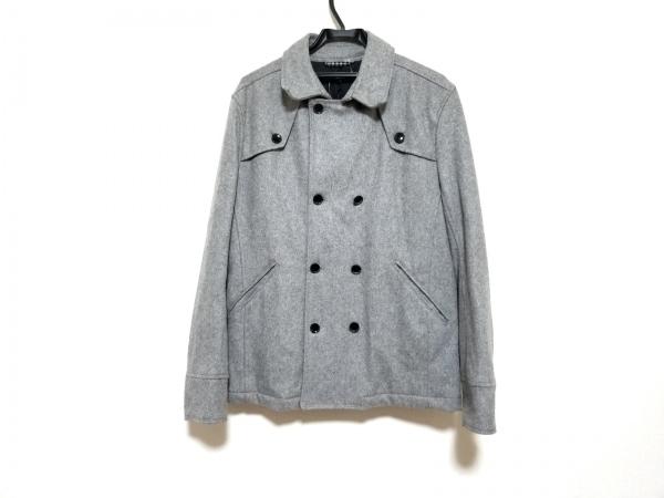 ハイダウェイニコル Pコート サイズ50 メンズ美品  ライトグレー 冬物