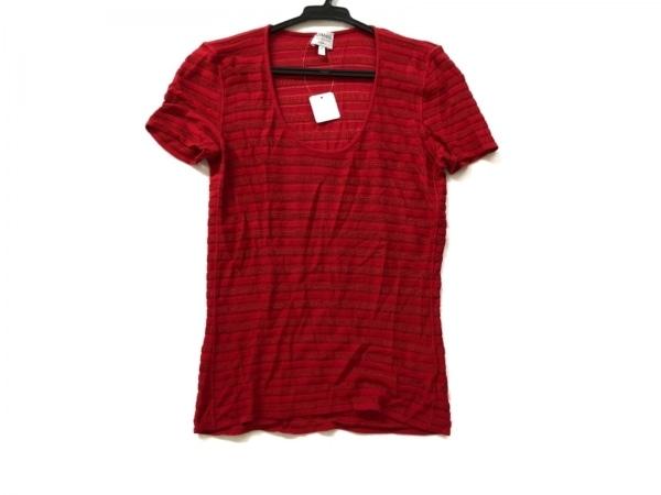 アルマーニコレッツォーニ 半袖セーター サイズ44 L レディース美品  レッド
