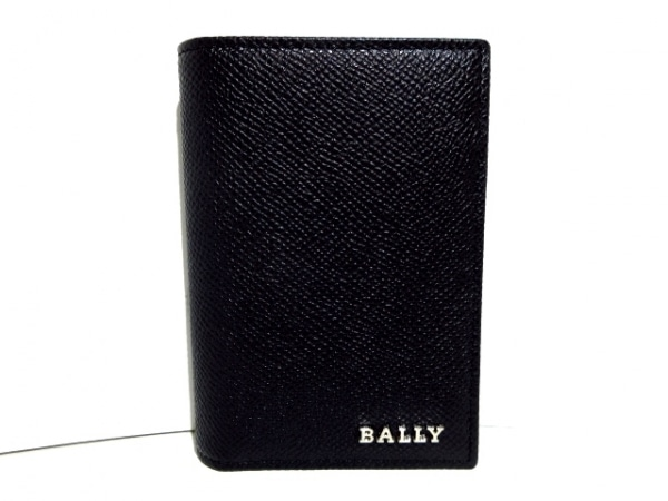 バリー 名刺入れ美品  LIANSON 6202657 黒 パスケース付き レザー 1