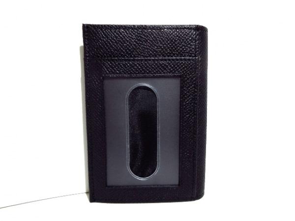 バリー 名刺入れ美品  LIANSON 6202657 黒 パスケース付き レザー 2