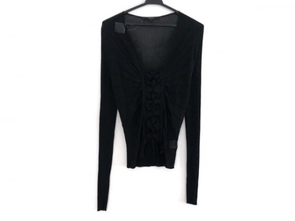 GUCCI(グッチ) 長袖セーター サイズS レディース美品  黒 フリル