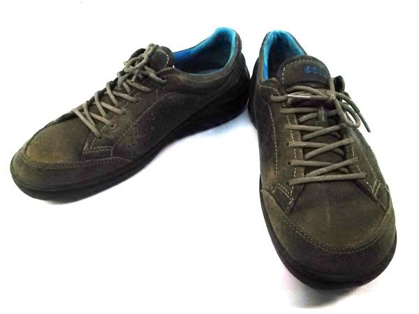 ECCO(エコー) 靴 41 メンズ ダークブラウン レザー