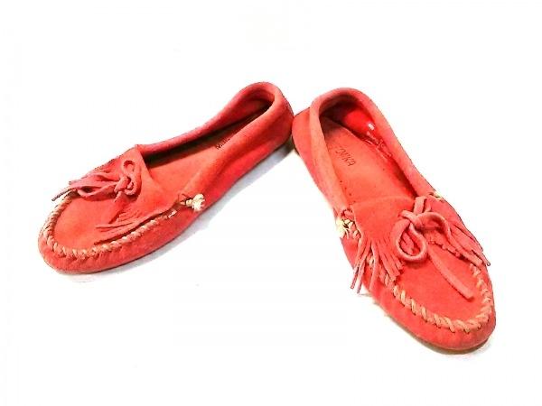 MINNETONKA(ミネトンカ) 靴 7 レディース レッド リボン/フリンジ スエード