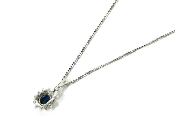 ノーブランド ネックレス美品  Pt850×Pt900×カラーストーン×ダイヤモンド