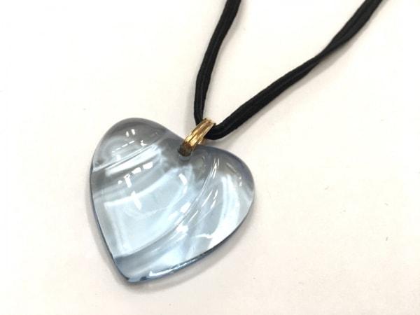 Baccarat(バカラ) ネックレス美品  クリスタルガラス×金属素材×化学繊維 ハート
