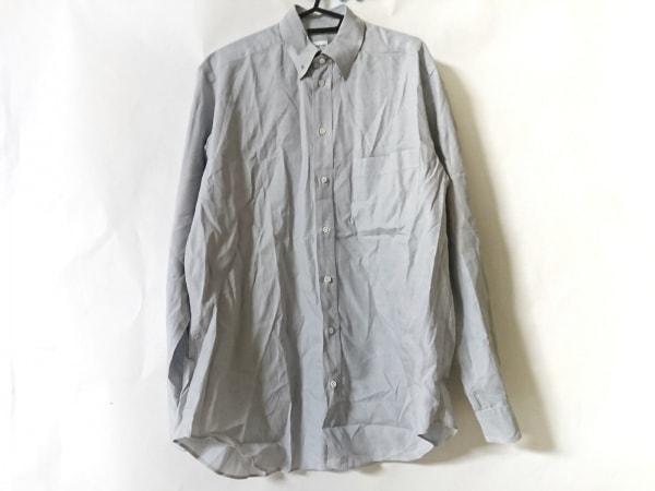 アルマーニコレッツォーニ 長袖シャツ サイズ40 M メンズ美品  ライトグレー