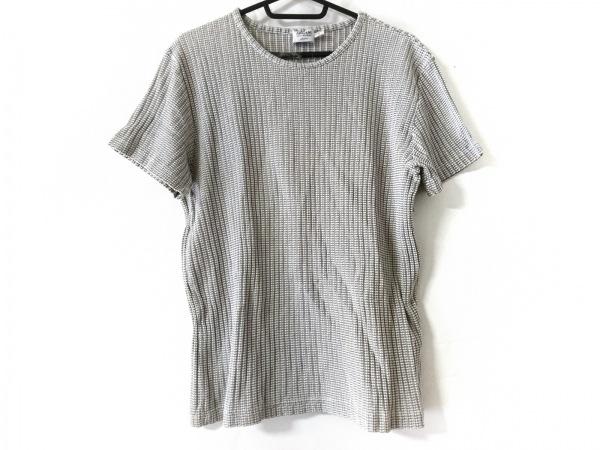 アルマーニコレッツォーニ 半袖カットソー サイズL メンズ美品  白×グレー