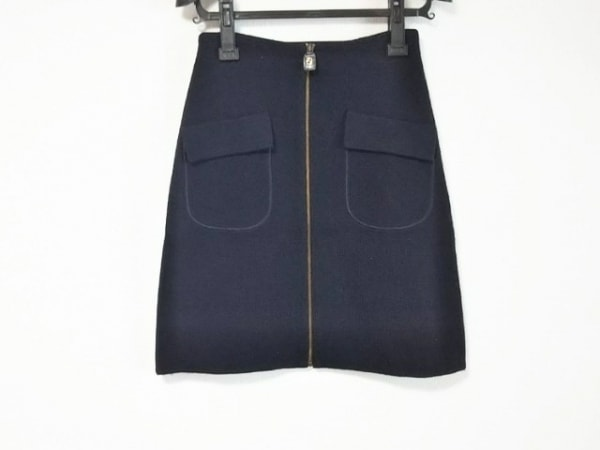 FENDI(フェンディ) スカート サイズ40 M レディース美品  ダークネイビー ニット