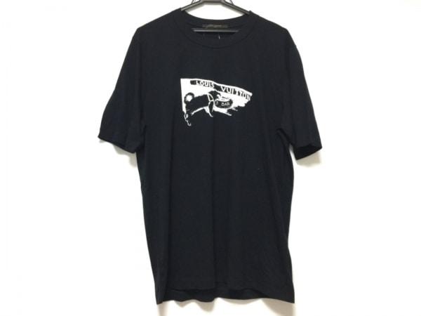 LOUIS VUITTON(ルイヴィトン) 半袖Tシャツ サイズL メンズ 黒×白