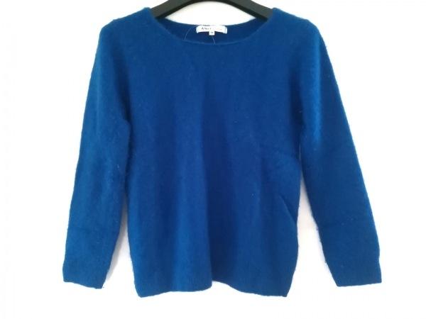 49アベニュージュンコシマダ 長袖セーター サイズ38 M レディース ブルー カシミヤ