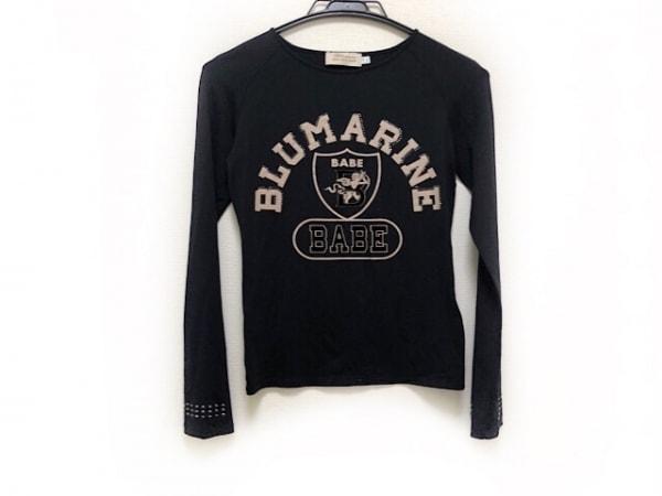 ANNA MOLINARI(アンナモリナーリ) 長袖Tシャツ サイズ40 M レディース 黒×ベージュ