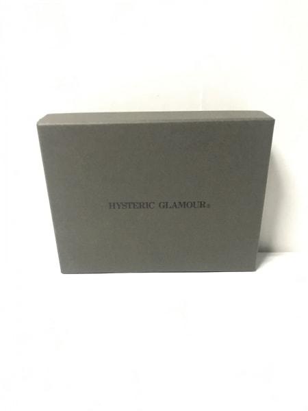 HYSTERIC GLAMOUR(ヒステリックグラマー) 2つ折り財布 黒 スタッズ レザー