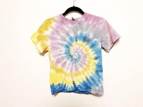 チャムス 半袖Tシャツ サイズXS XS レディース美品  ブルー×パープル×マルチ