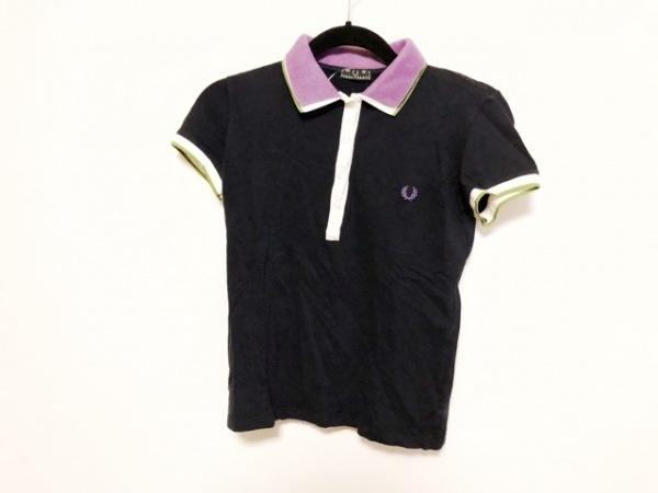 フレッドペリー 半袖ポロシャツ サイズM M レディース ネイビー×白×マルチ
