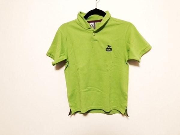 チャムス 半袖ポロシャツ サイズXS XS メンズ美品  ライトグリーン×パープル