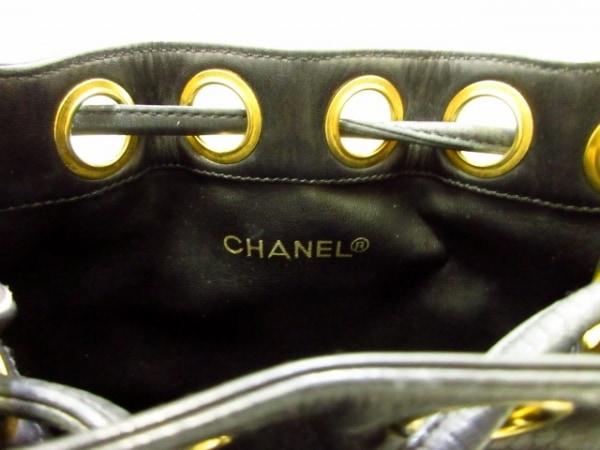 シャネル ショルダーバッグ ビコローレ 黒 チェーンショルダー/ゴールド金具/巾着型
