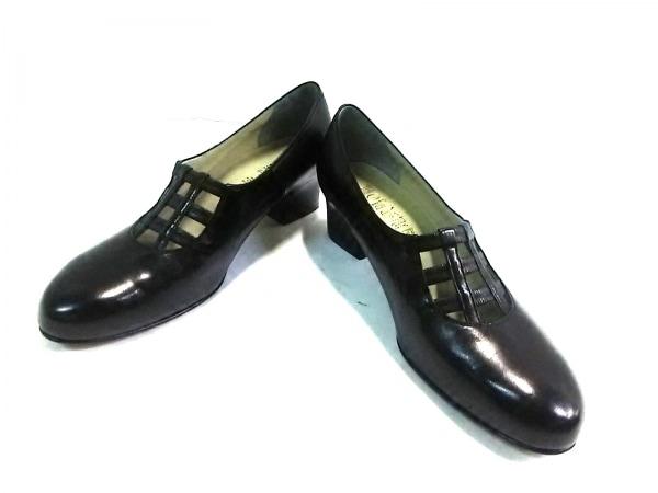 菊地武男の靴(キクチタケオノクツ) パンプス 23 EE レディース 黒 レザー