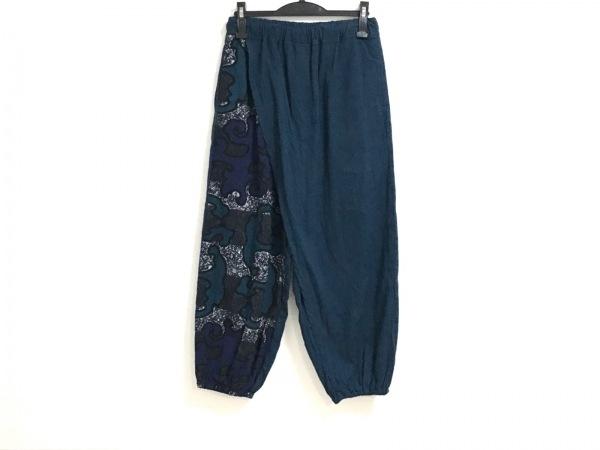 SOU・SOU(ソウソウ) パンツ サイズS レディース美品  ネイビー×パープル×マルチ