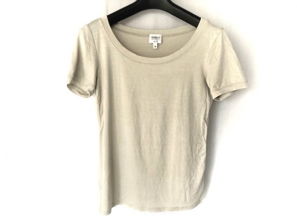 アルマーニコレッツォーニ 半袖Tシャツ サイズ42 M レディース ライトグレー
