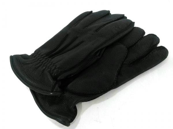 Burberry(バーバリー) 手袋 メンズ美品  黒 レザー