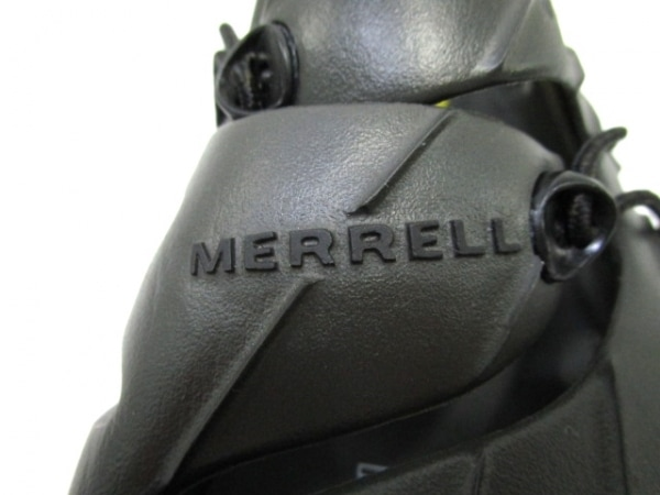 MERRELL(メレル) シューズ メンズ 黒×イエロー ラバー