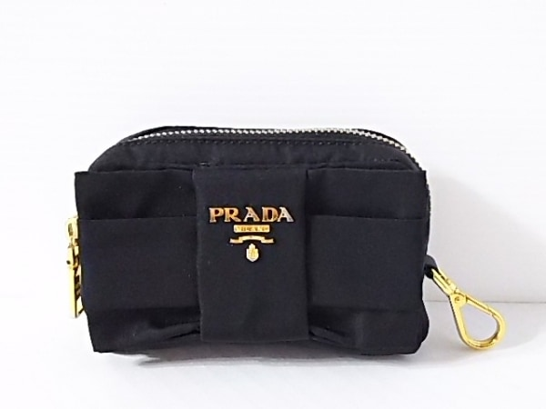 PRADA(プラダ) ポーチ - 1N1441 黒 リボン ナイロン