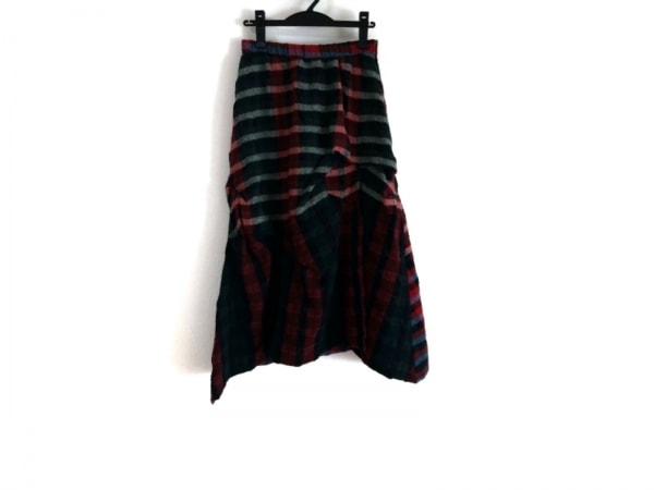 慈雨(ジウ/センソユニコ) ロングスカート サイズ40 M レディース美品  チェック柄