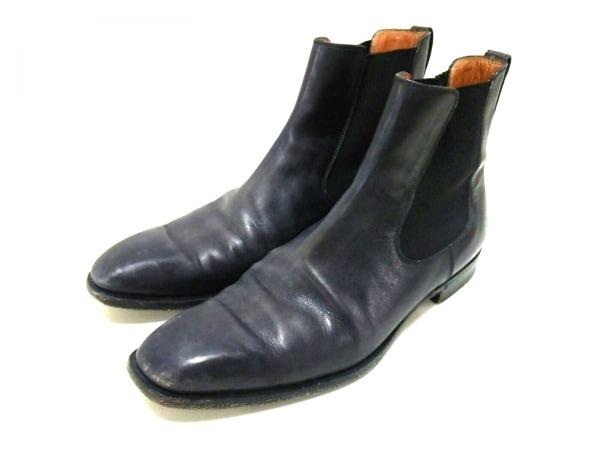 berluti(ベルルッティ) ショートブーツ 8 メンズ 黒 サイドゴア レザー