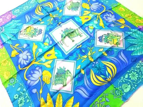 ATELIER VERSACE(アトリエヴェルサーチ) スカーフ - ブルー×ピンク×マルチ