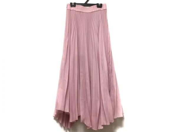 ミラオーウェン スカート サイズ0 XS レディース - - ピンク マキシ丈/プリーツ