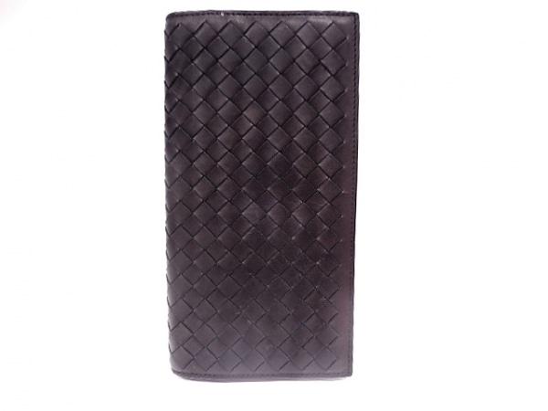 BOTTEGA VENETA(ボッテガヴェネタ) 札入れ イントレチャート B05584537W 黒 レザー