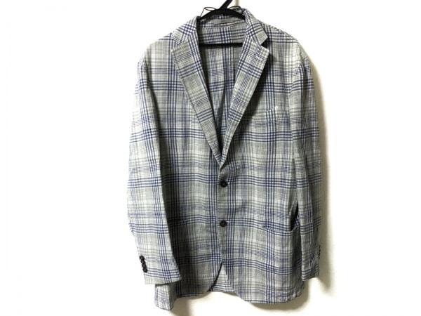 BOGLIOLI(ボリオリ) ジャケット サイズ50 M メンズ ライトグレー×マルチ チェック柄