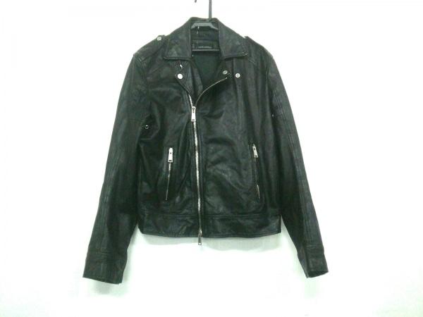 ディースクエアード ライダースジャケット サイズ52 L メンズ 黒 冬物/ダブル