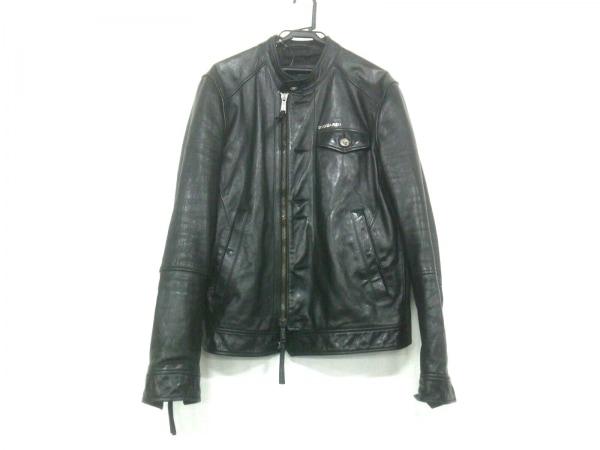 ディースクエアード ライダースジャケット サイズ54 L メンズ 黒 冬物/シングル