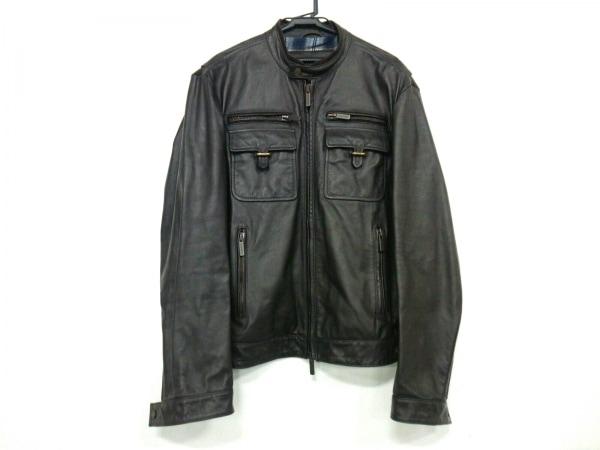 ディースクエアード ライダースジャケット サイズ54 L メンズ ダークブラウン 冬物