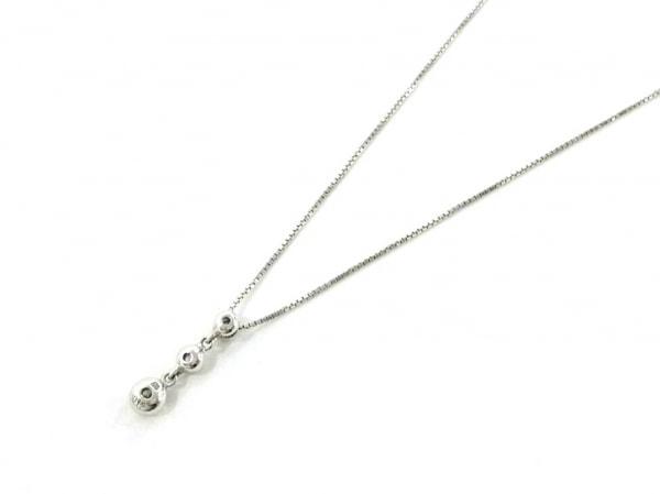 ノーブランド ネックレス美品  K18×ダイヤモンド クリア 総重量:1.9g/ELLE 0.12刻印