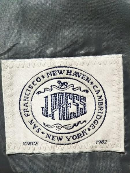 J.PRESS(ジェイプレス) ジャケット レディース ライトグレー×黒