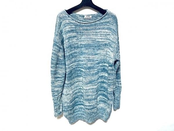 アクネ ストゥディオズ 長袖セーター サイズXS レディース美品  ライトブルー×白