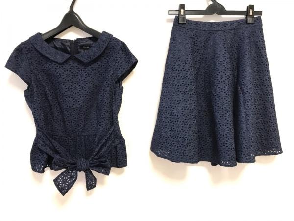 TOCCA(トッカ) スカートセットアップ レディース ネイビー フラワー/刺繍