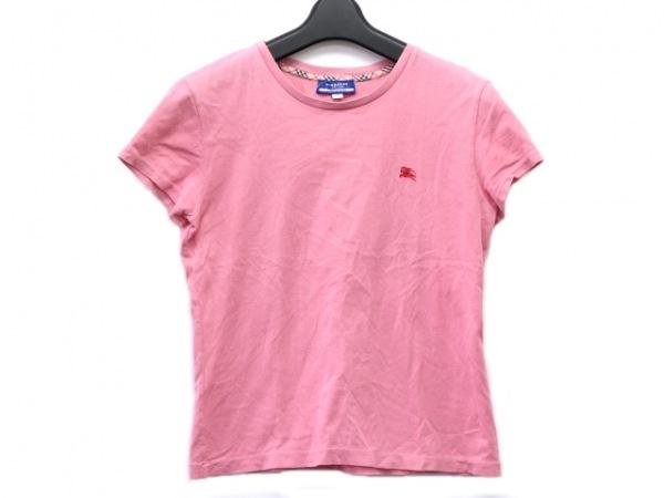 バーバリーブルーレーベル 半袖Tシャツ サイズM レディース ピンク 刺繍