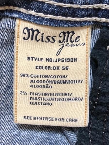 ミスミー ショートパンツ サイズ27 M レディース ネイビー デニム/ダメージ加工