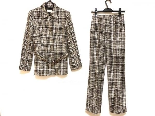 HARRODS(ハロッズ) レディースパンツスーツ サイズ2 M レディース ブラウン×白 冬物