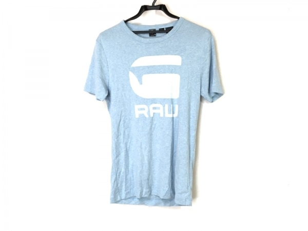 G-STAR RAW(ジースターロゥ) 半袖Tシャツ サイズM メンズ ライトブルー