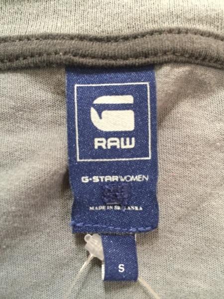 G-STAR RAW(ジースターロゥ) 半袖Tシャツ サイズS レディース グレー×白