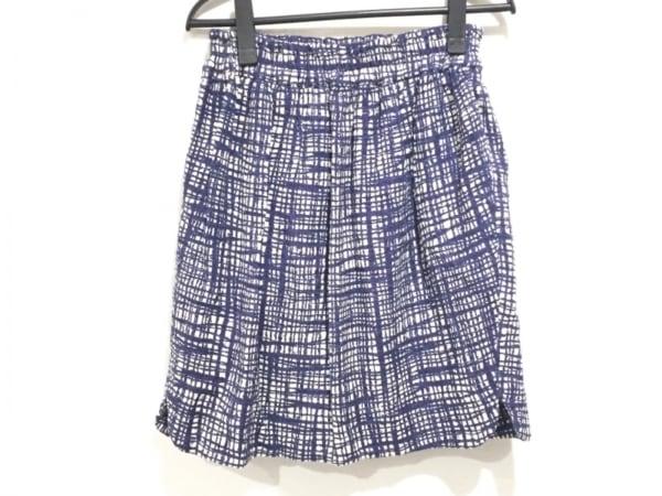 バルコニーアンドベッド スカート サイズF レディース ネイビー×アイボリー
