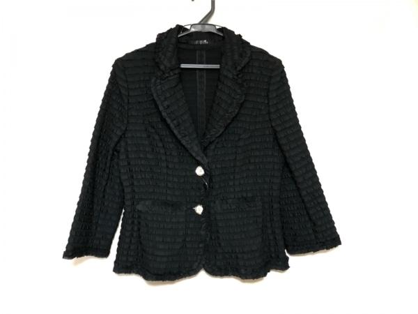 MADAM JOCONDE(マダムジョコンダ) ジャケット サイズ42 L レディース美品  黒 フリル