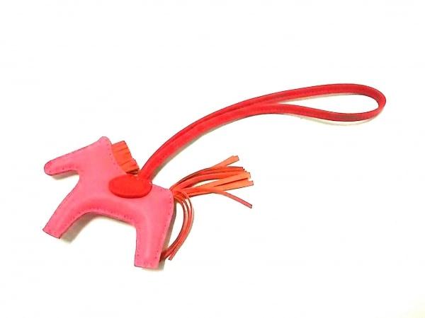 エルメス キーホルダー(チャーム)美品  ロデオチャームPM ピンク×レッド×オレンジ