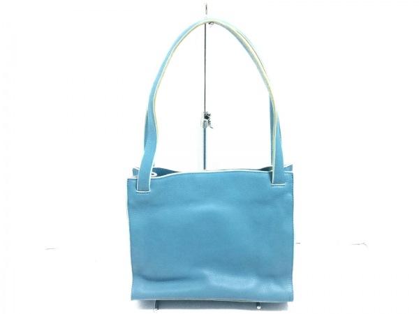 DKNY(ダナキャラン) ショルダーバッグ美品  ライトブルー レザー